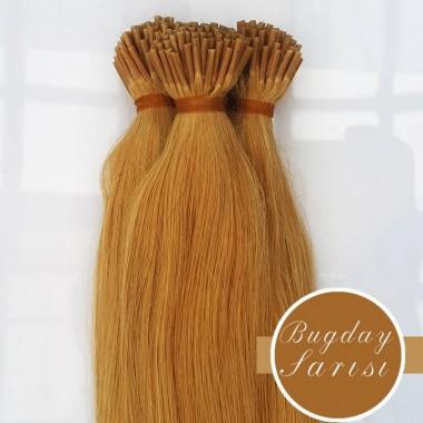 Boncuk Kaynak Buğday Sarisi Ucuz Doğal Peruk Ham Saç Kaynak